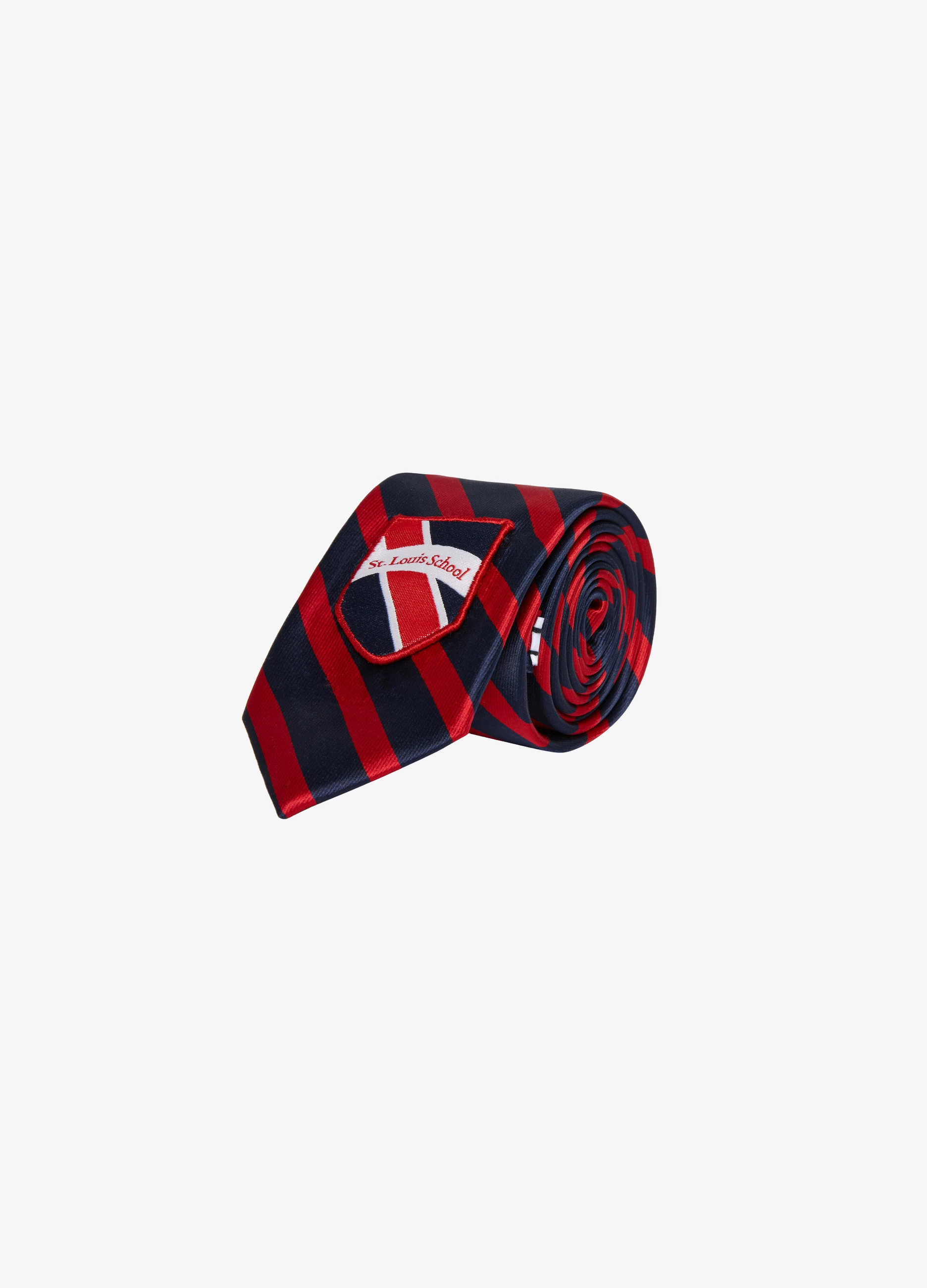 Two-tone tie with patch
