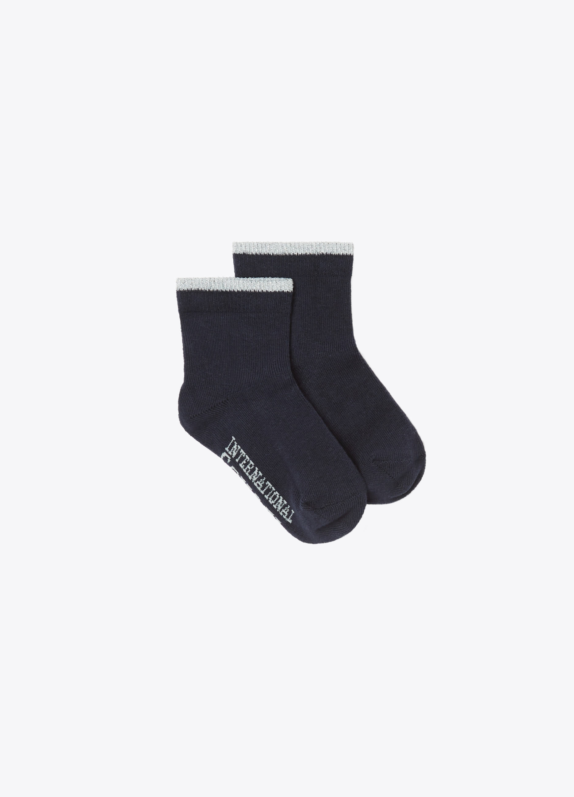 Short stretch socks with lurex