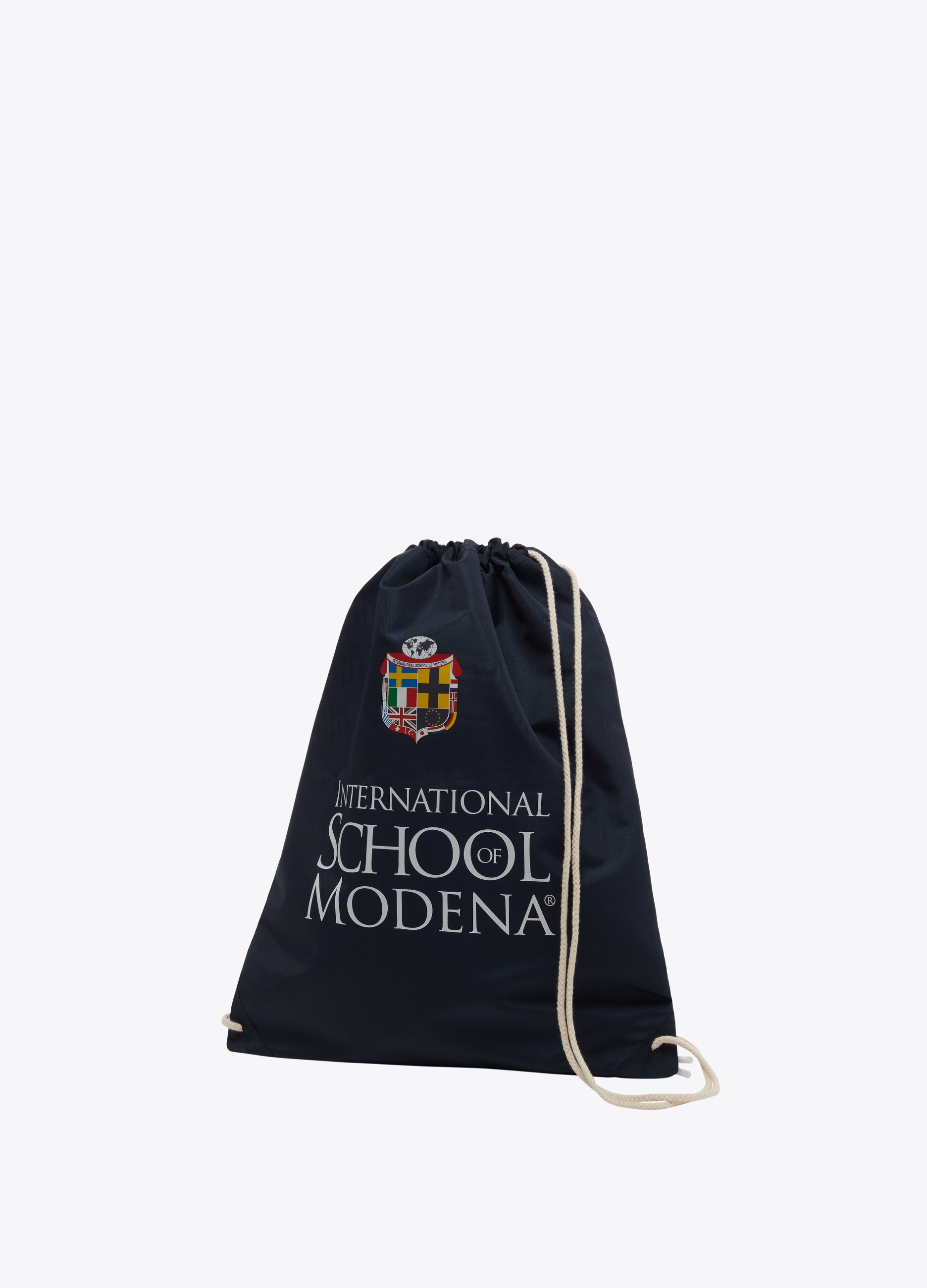 Solid colour bag with print